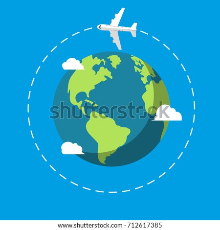 Planet Earth. Plane. Vector.