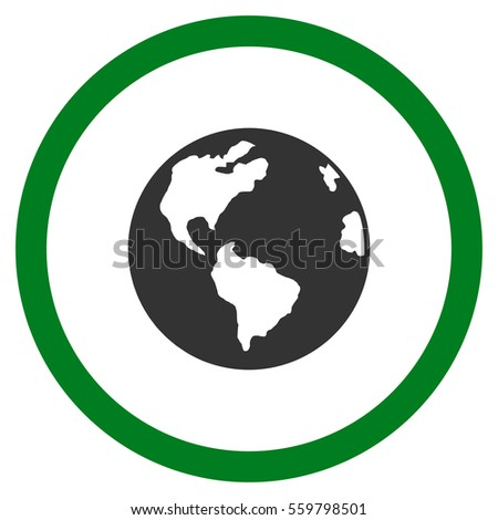 planet earth vector bicolor