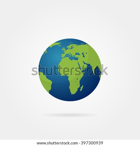 planet earth with shadow on a