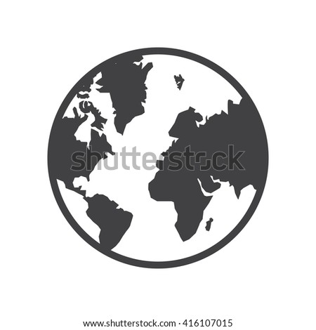 Planet icon Vector Illustration on the white background.