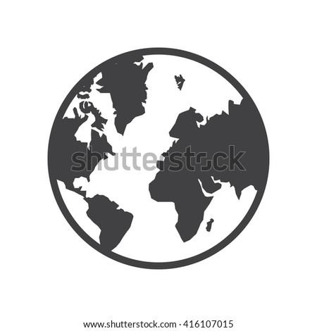 planet icon vector illustration