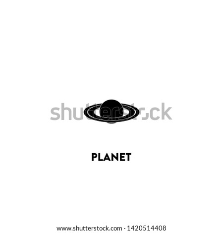 planet icon vector. planet sign on white background. planet icon for web and app