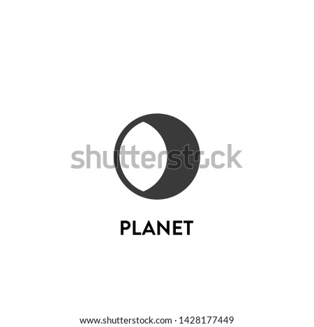 planet icon vector. planet vector graphic illustration