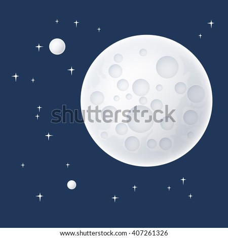 planet in space  the moon with