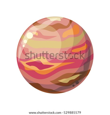 planet jupiter icon element of