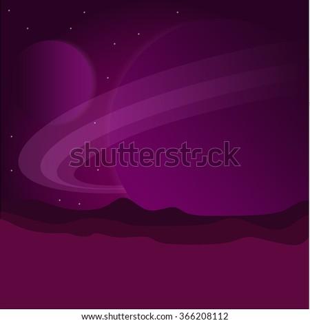 planet landscape vector