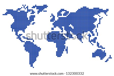 Free vector pixel world map download free vector art stock colorful vector pixel world map planet pixel gumiabroncs Image collections