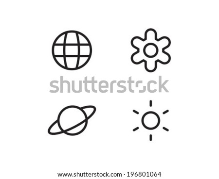 Royalty free stock photos and images planet star outline icon planet star outline icon symbol sciox Images