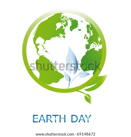 Planet symbol on Earth Day
