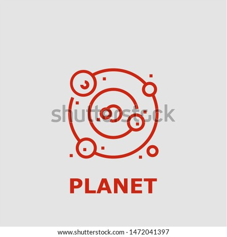 Planet symbol. Outline planet icon. Planet vector illustration for graphic art.