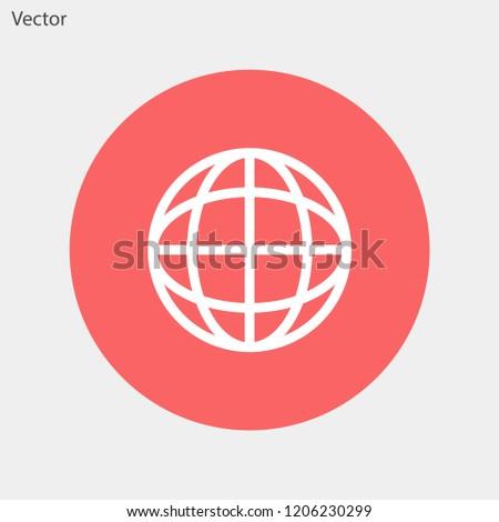 planet vector icon 10 eps