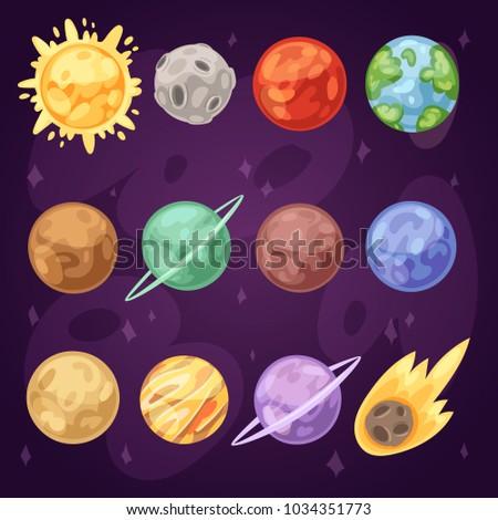 planet vector planetary solar
