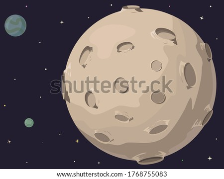 planet with craters and other