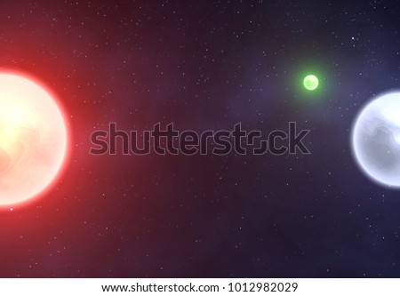 planets against the background