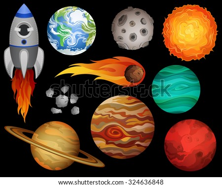 planets and outer space design