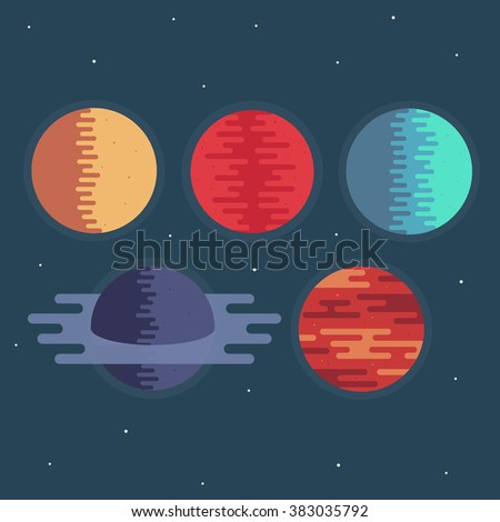 planets in space vector