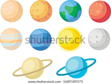 Planets of the solar system (icons)