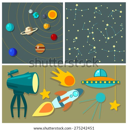 planets  rockets and stars