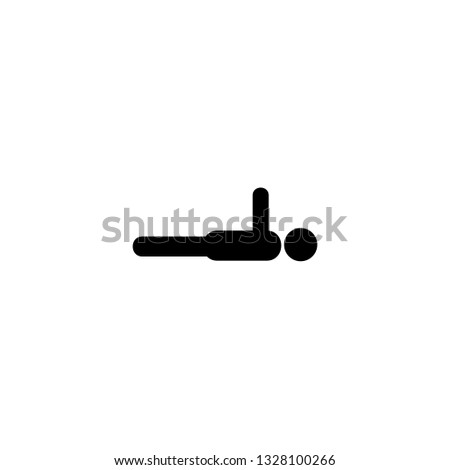 planking icon vector. planking vector graphic illustration
