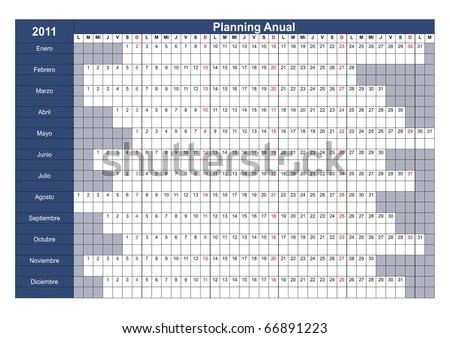 Planning anual para 2011 en Español