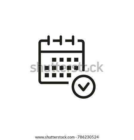 Planning calendar icon
