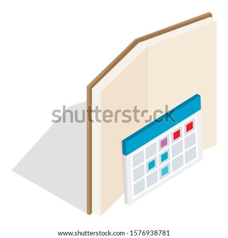 Planning schedule icon. Isometric illustration of planning schedule vector icon for web