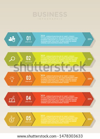 Planning step vector for infographic with icons and 5 options or steps. Colorful vector design infographic for your best business. Vector illustration EPS.8 EPS.10