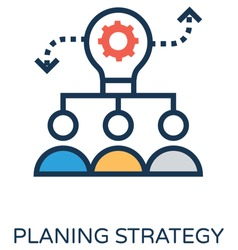 Planning Strategy Vector Icon