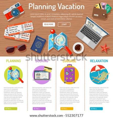 planning vacation and tourism