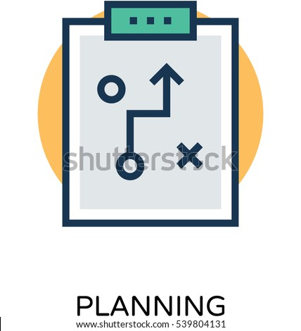 planning vector icon