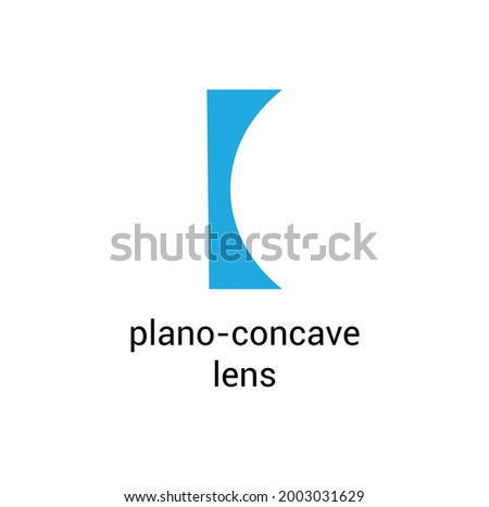 plano concave lens diagram vector Foto stock ©