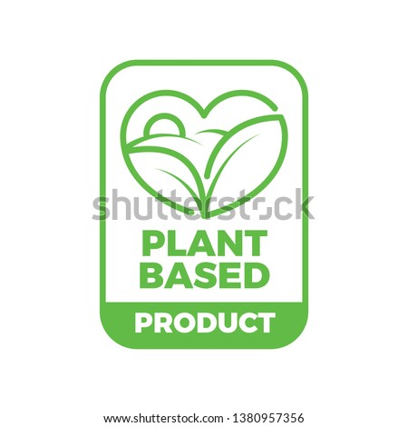 Plant Based Organic Product Icon Seal Symbol Label Certificate Healthy Eco Icon