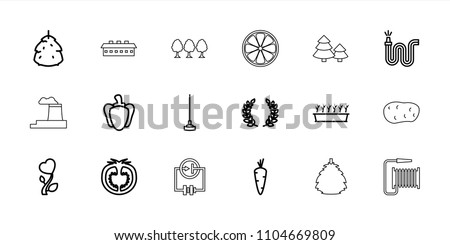 plant icon collection of 18