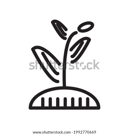 plant icon or logo vector illustration of isolated sign symbol, vector illustration with high quality black outline.