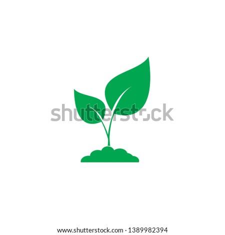 plant icon sign design