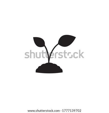plant icon  vector design illustration background Stockfoto ©