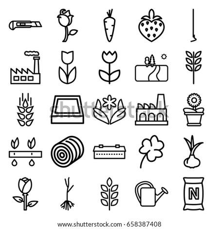 plant icons set set of 25