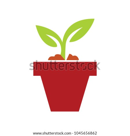 plant pot icon  vector flower