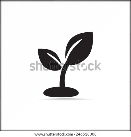plant sprout vector icon