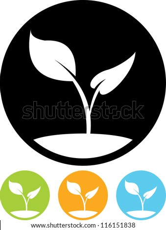 Plant sprout - Vector icon isolated