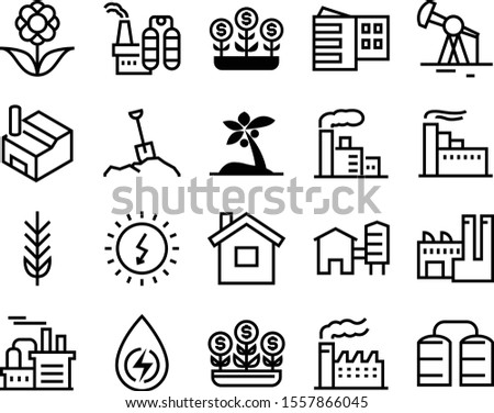 plant vector icon set such as
