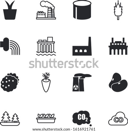 plant vector icon set such as: dieting, resources, tool, blackberry, cover, blossom, wash, colorful, stem, heating, potted, carrots, crop, hydro, botany, logo, season, danger, innovation, sweet