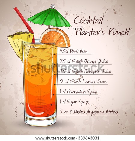 planter punch cocktail