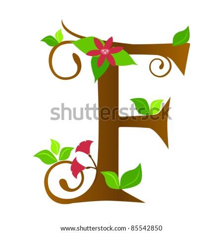 Fancy Letter f Font Plants Font Type Letter f