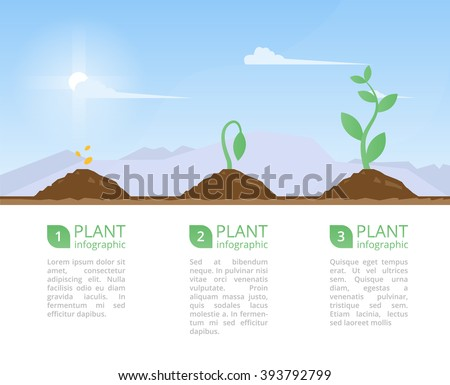 plants growing set and
