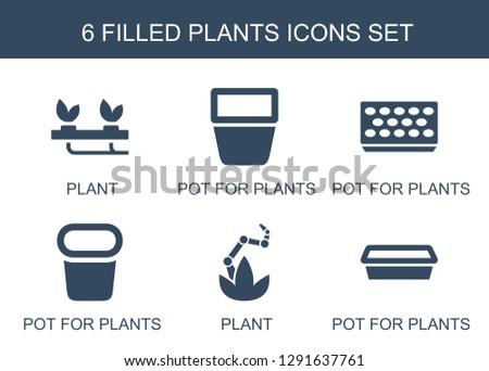 plants icons trendy 6 plants