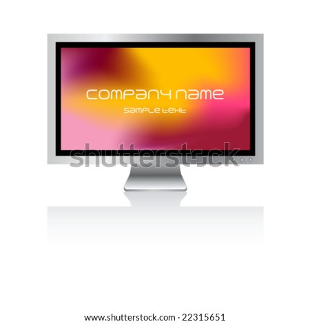 Plasma screen with background