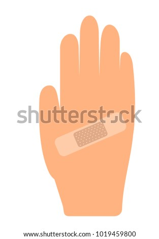 Plaster on hand illustration vector