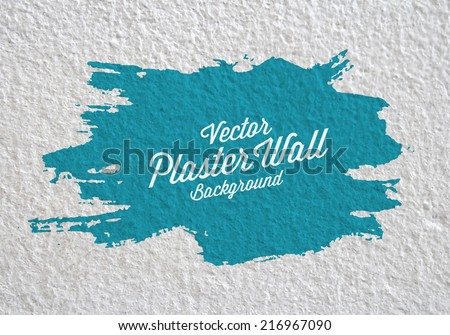 plaster wall with paint splotch