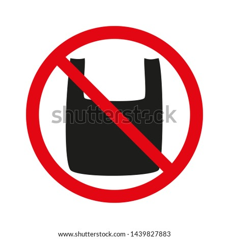 Plastic bag free icon. July, 3th holiday. Vector design element for posters, banners, ads, t shirts, cards, web